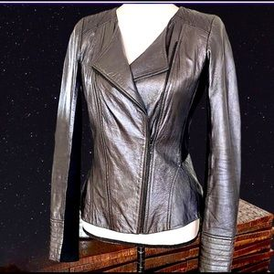 TROUVÉ, HP!💥💥🌷HOT!GUNMETAL LEATHER fitted Jkt💥